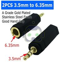 """Audio 3.5mm Male to 6.35mm 1/4""""  Female Jack Stereo Adapter Connector Converter"""