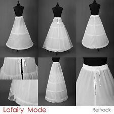 Reifrock Petticoat Unterrock weiß schwarz mit 2 - 3 Ringe Gr.32 - 58 Brautkleid