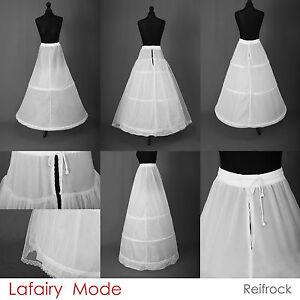 Reifrock Petticoat Unterrock weiß schwarz mit 2 - 3 Ringe Federstahl Lafairy