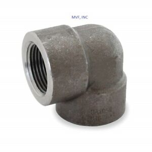 """1-1/2"""" 3000# Threaded (NPT) 90° Elbow A105 Forged Steel Pipe Fitting <FS010821"""