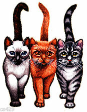 "5"" Beach bum kitty cats kittens fabric applique iron on character"