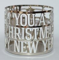 NEW BATH & BODY WORKS CHRISTMAS WISHES LARGE 3 WICK CANDLE HOLDER SLEEVE 14.5 OZ