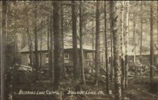 Belgrade Lakes ME Camps in Woods c1920 Real Photo Postcard #5