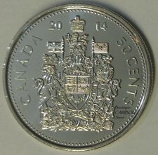 2014 Canada 50 Cents Coat of Arms BU