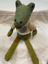 Anthropologie Stuffed Alligator Green Chenille Knit Sweater Plush Alligator
