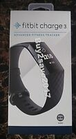 Fitbit Charge 3 Fitness Activity Tracker Graphite/Black Alum S & L Bands *NEW*