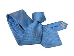 Cravate Soie Homme Turquoise Teinte Sur Teinte Tissé Et Micro de Fantaisie Italy