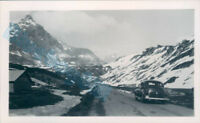 Packard Car Switzerland Julier Pass in 1951 4.25  x 2.5 inches v2