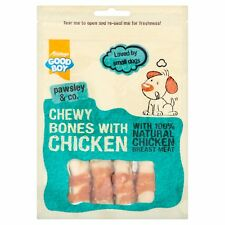 Good Boy Pawsley Dog MINI CHEWY BONES CHICKEN Rawhide Meat Treats Chews 80gm