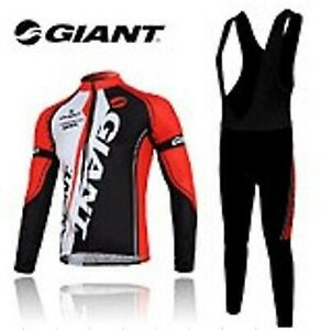 Winter Men's Cycling Thermal Fleece Bicycle Long sleeve Jersey + Long Bib Pants