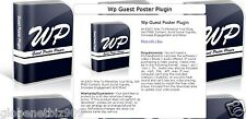 Wordpress Guest Poster Plugin with Developer License - CD/DVD