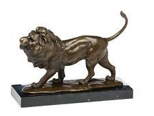 Bronzeskulptur Löwe Raubtier Bronze Skulptur Figur Bronzefigur Statue lion