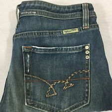 Miss Me Model O Straight Leg Jeans Distressed Stretch  Size 30 x 26 Blue