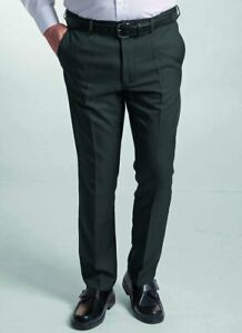 Mens Gents Comfortable Formal Easy Care Stain Resistant Trouser