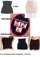 2 PCS NEW Women's Plus Size 3 in 1 Slimming Solution Shapewear Waist CINCHER
