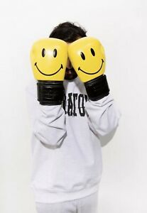 New Limited Chinatown Market X Smiley Originals Yellow Black Unisex Boxing Glove