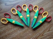 Set of 5 craft scissors Art Scrapbook Preschool  Kindergarten Classroom