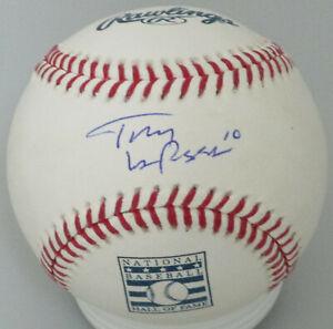 Cardinals TONY LARUSSA Signed MLB HOF LOGO Baseball AUTO - 3 x WS Champ -  JSA!