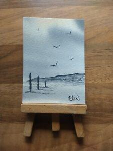 ELW Original, Aceo Cards.  The beach. Seascape