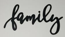 Family Farmhouse Plasma cut metal sign, gallery wall, art, home decor Black