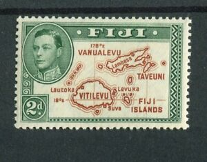 Fiji KGVI 1938-55 2d brown & green (die 1) SG253 MLH