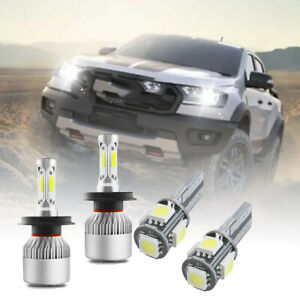 FOR Ford Ranger - 4X Super White Xenon 32w High/Low/Side LED Headlight Bulbs Set