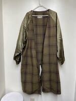 Giorgio Armani Trench Coat Removable Liner Plaid Le Collezioni Size 14 Italian