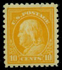 US #472 10¢ orange yellow, p. 10, og, VLH, VF/XF+