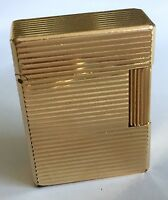 S.T. DUPONT PARIS Vintage Gold Plated Lighter Encendedor Briquet Feuerzeug 1970s