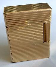 S.T. DUPONT PARIS Vintage Gold Plated Lighter Encendedor Briquet Feuerzeug 1970s