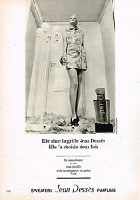 PUBLICITE ADVERTISING 084  1969  JEAN DESSES   sweaters parfums