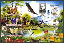 Chad 2010 Butterflies & Mushrooms IV Birds Eagle Flowers Sh of 6 MNH** Privat !