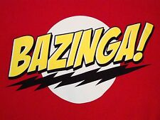 Bazinga! The Big Bang Tehory TBBT Sheldon Cooper TV Show Souvenir T Shirt L