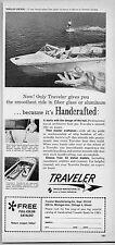 1963 Vintage Ad Traveler Centaur Fiber Glass Boats Chicago,Illinois