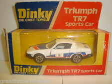 DINKY SPORTS CAR RACING RALLY NO 211 TRIUMPH TR7 IN BOX NICE CONDITION WORKING