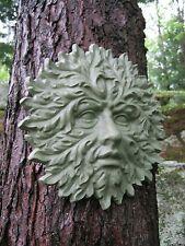 Green Man Face, Concrete Hanging Garden Decor, Greenman Cement Garden Face