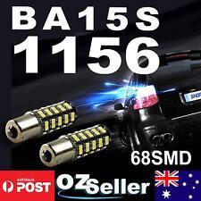 2x 1156 BA15S Car White Globe 68 LED Brake Reverse Turn Stop Tail Light Bulb 12V