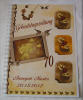 Geburtstagszeitung # Bilderrahmen # Geburtstag # Geschenk Karte Jedes Alter