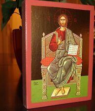100x icona Gesù Cristo al trono ICON ICONE Orthodox icona icoon icone