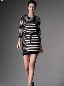 3.1 Phillip Lim Striped Wool Blend Belted Open Back Knit Dress MEDIUM 6 8 $475