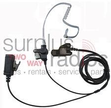 2 Wire Police Surveillance Headset Motorola HT1000 MTS2000 MT2000 MTX9000 MTX838