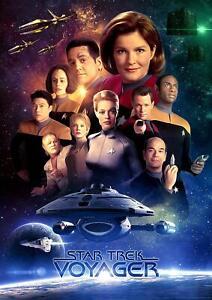 Star Trek Voyager Movie Poster Canvas Picture Art Print Premium Quality