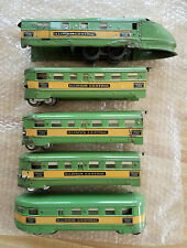 American Flyer Illinois Central Green Diamond Streamliner Loco + Four Cars