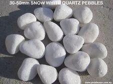 30-50mm SNOW WHITE Garden Pebbles/Stones-A GRADE-20 KG-TOP QUALITY- WHOLESALE