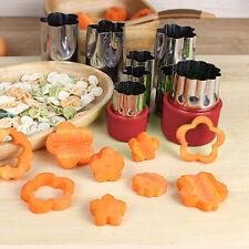 8pcs Stainless Steel Flower Shape Rice Fruit Vegetable Cake Cutter Mold Slicer
