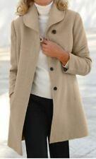 Damen Mantel Wolljacke Winter Parka Jacke Wolle Kurzmantel NEU OVP Farbe beige