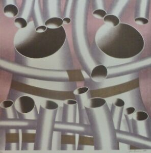 """Jack Brusca (1939 - 1993 )""""Pipes"""" 1978 serigraph HAND SIGNED USA NEW YORK ARTIST"""