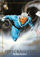 QUICKSILVER / 1992 Marvel Masterpieces BASE Trading Card #71 Art by JOE JUSKO