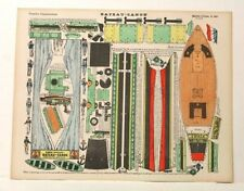 Pellerin Imagerie D'Epinal-No 281 Bateau Canon Grande vintage paper model