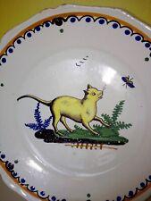 assiette en céramique faïence de Nevers 18eme XVIIIeme siècle 18th century